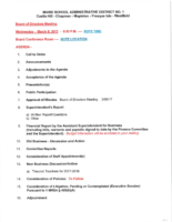 March 2017 Business Meeting Agenda